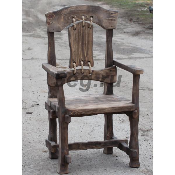 Кресло под старину с веревками