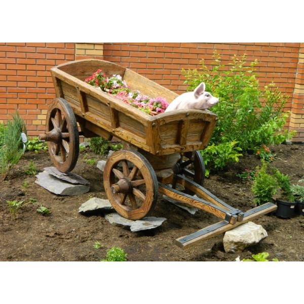 Декоративная телега для сада №1